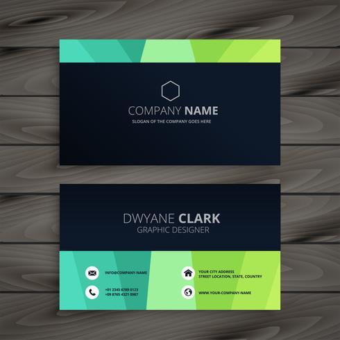 diseño elegante tarjeta de visita oscura