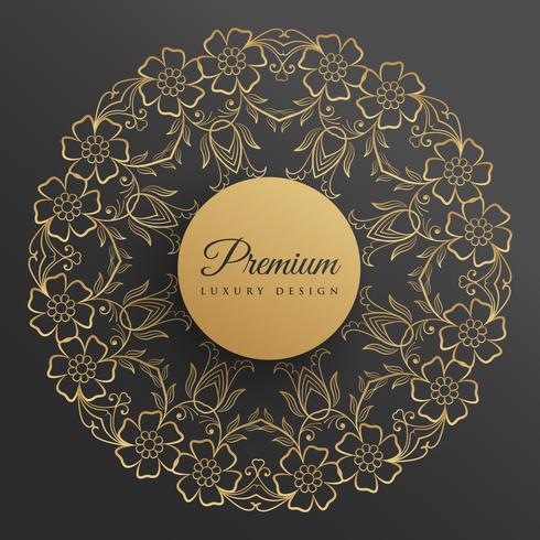conception de mandala décoratif de style fleur