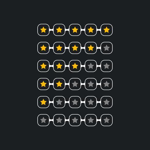 símbolo de classificação estrela criativa para tema preto