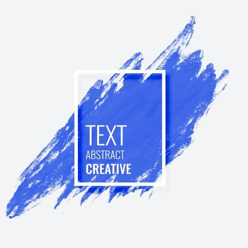 coup de pinceau abstrait bleu avec espace de texte