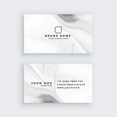 white modern marble style business card
