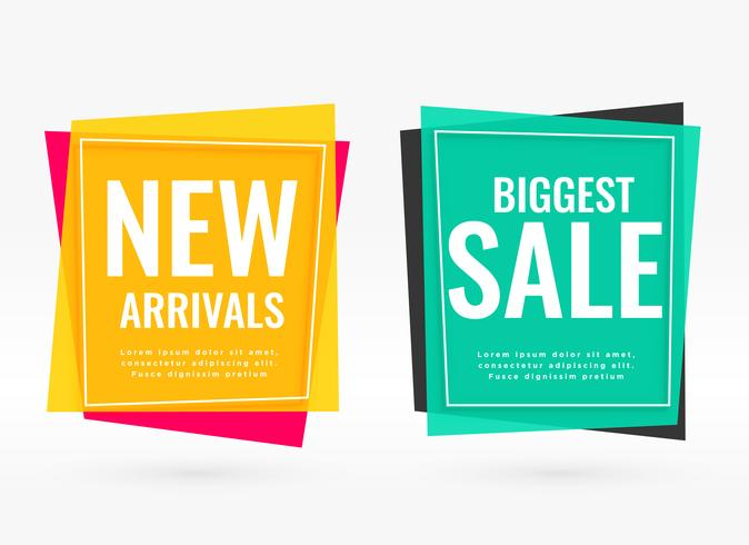 bright sale banners with text space