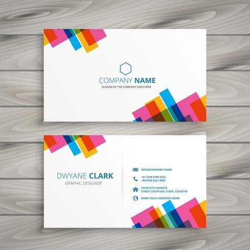 conception de carte de visite colorée abstraite
