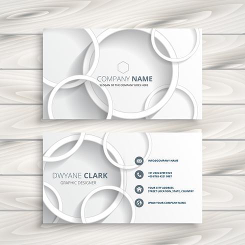 cartão branco com design círculos 3d