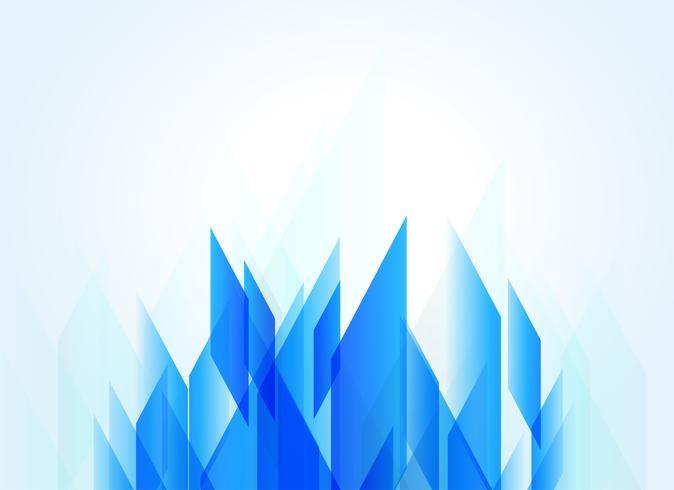 blå bakgrund med abstrakt geometrisk form