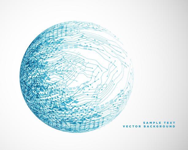 blå teknik trådnät design