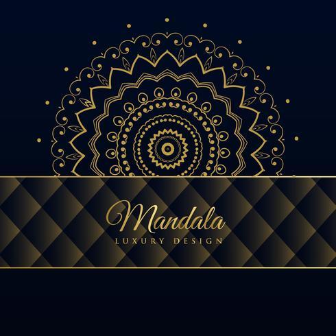 fond de modèle de mandala de luxe sombre