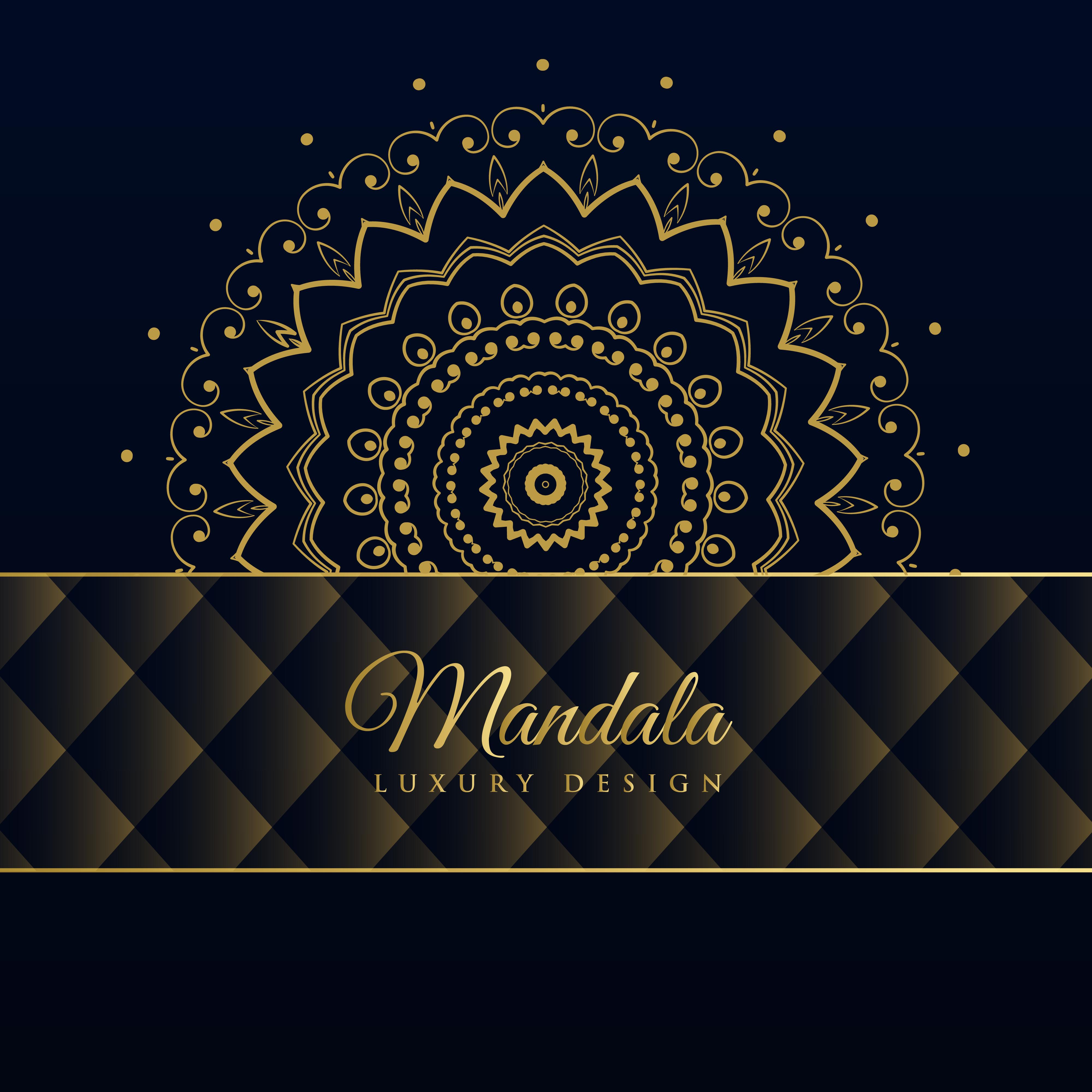 dark luxury mandala pattern background