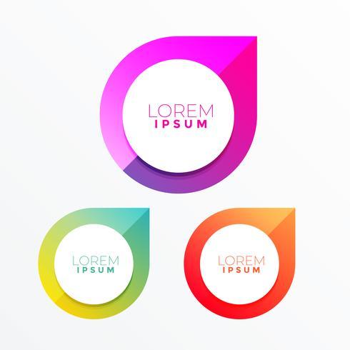 design de rótulo colorido com espaço de texto