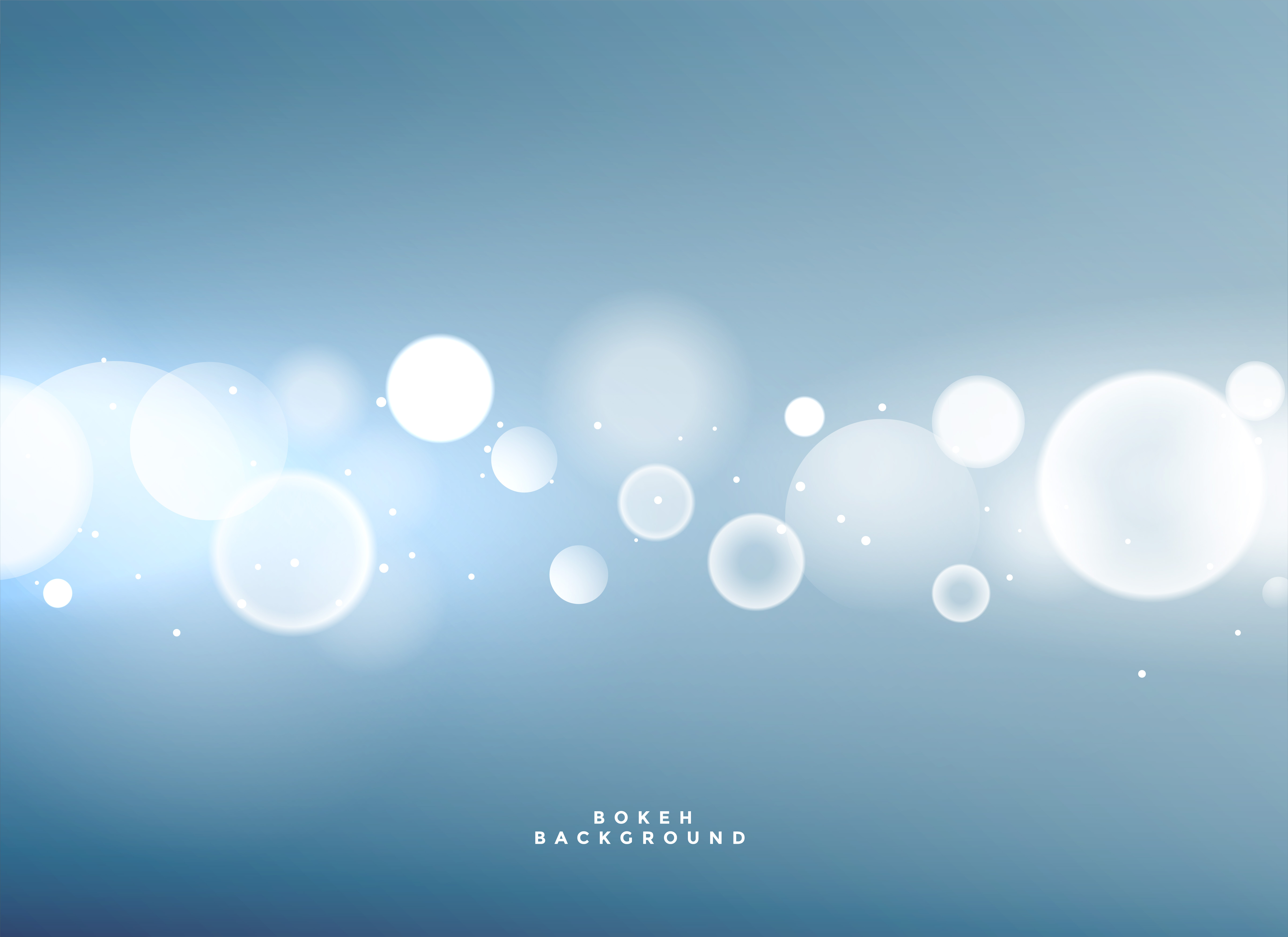 Blue Background With Bokeh Lights Download Free Vector