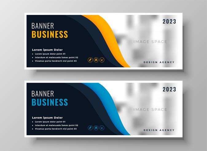 två moderna affärer banderoller med bildutrymme