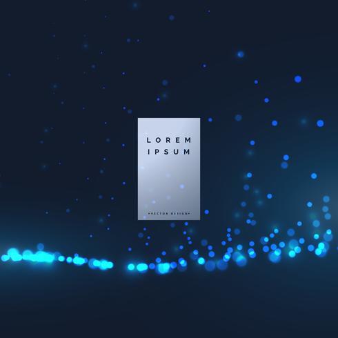 conception de fond abstrait particule de technologie