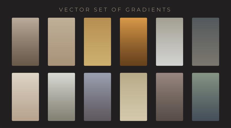 conjunto de gradiente de estilo antigo vintage