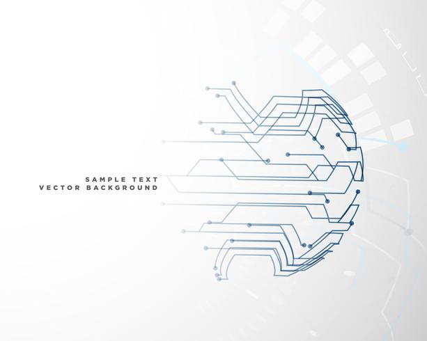 Fondo de malla de alambre del circuito digital