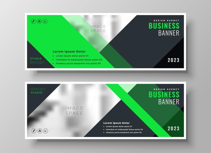 banners de negócios web brilhante em estilo geométrico