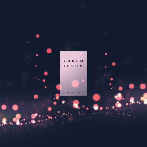 ljuspartikel bokeh effekt bakgrund