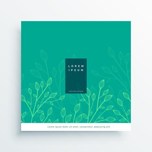 deixa o fundo de design de cartão de natureza