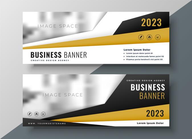dos banners de web de negocios horizontales con espacio para texto e imag