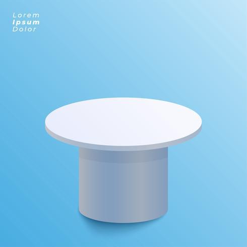 weergave van tafel ontwerp op blauwe achtergrond