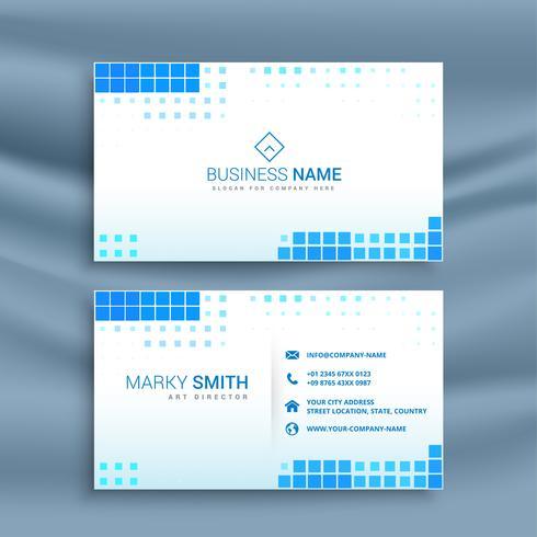 blauwe mozaïek stijl visitekaartjesjabloon
