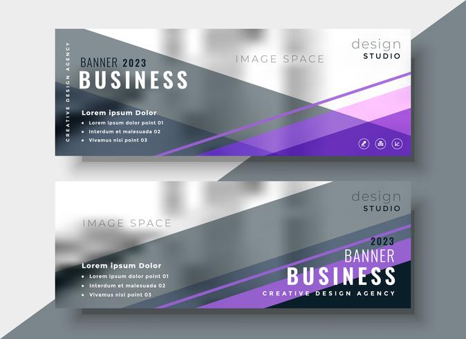 conception de bannières d'affaires abstrait géométrique