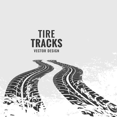 tire tracks mark in perspective