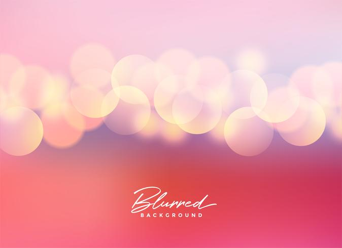 beautiful pink blurred bokeh lights background