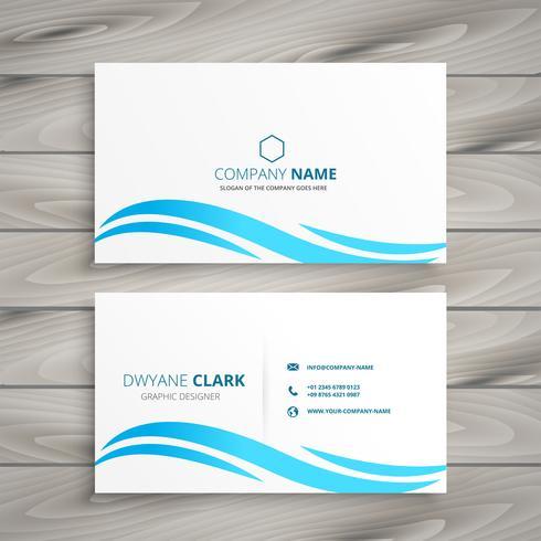vitt visitkort med blå våg