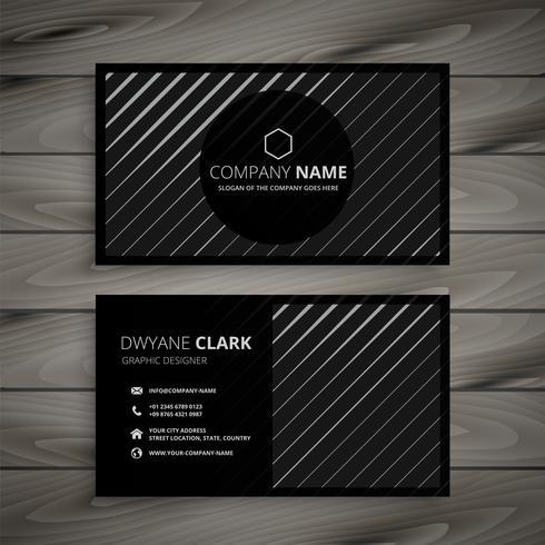 svart visitkort med diagonala linjer