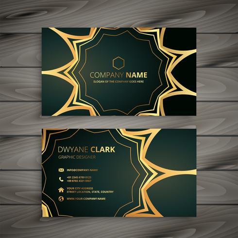 stylish luxury business card design