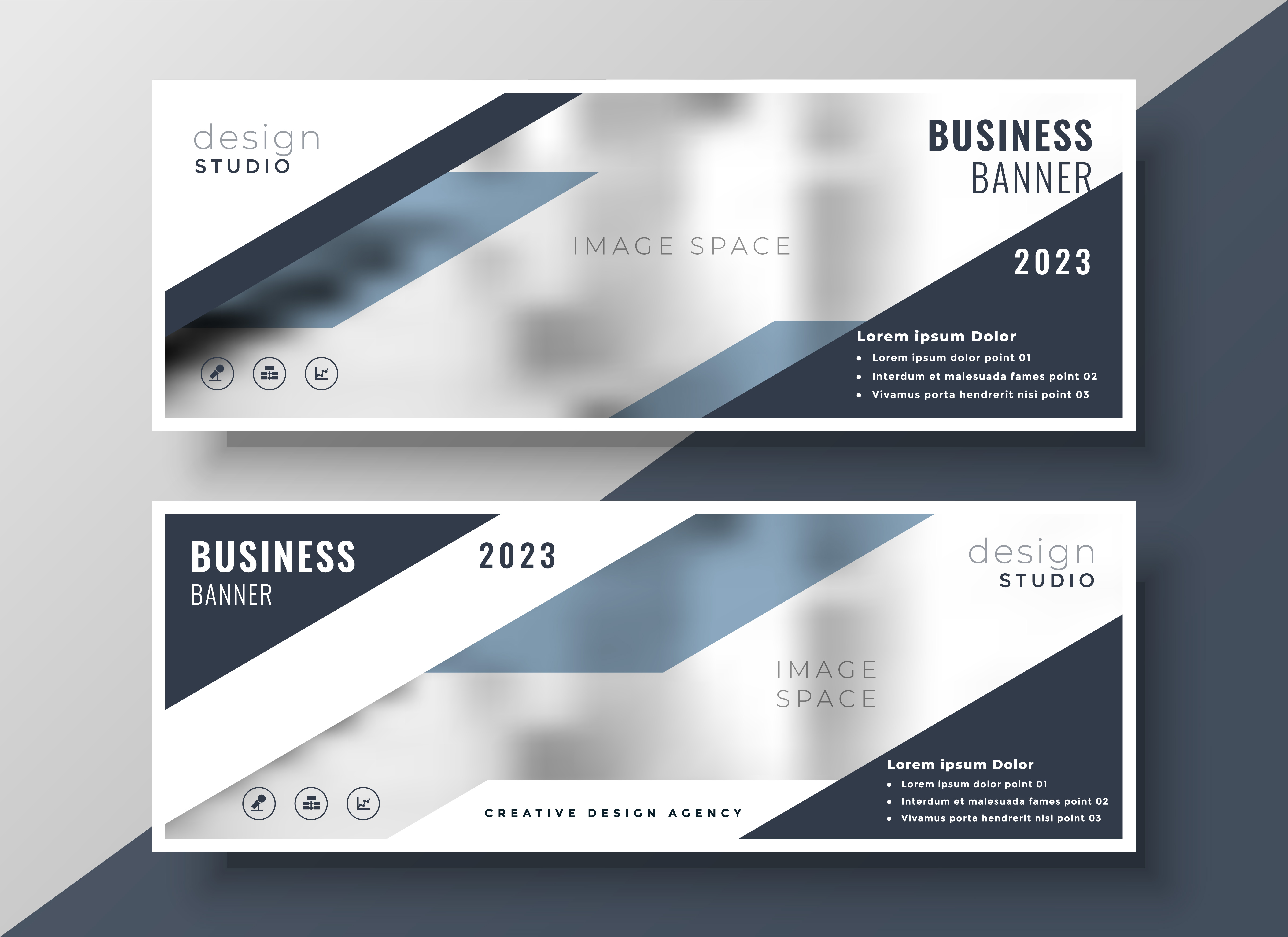 two corporate professional business banners design ...