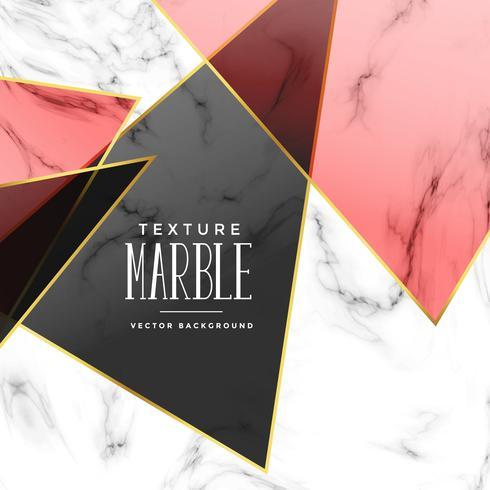 abstrakte Marmor Textur mit geometrischen Formen