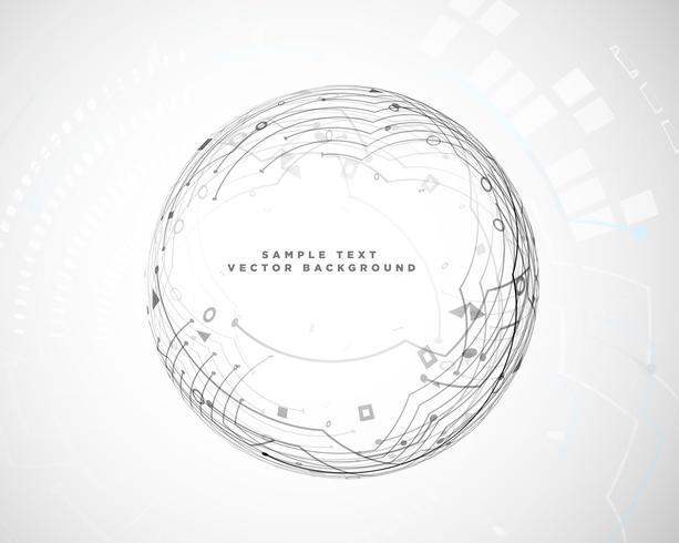 cirkulär abstrakt teknik kretsschema