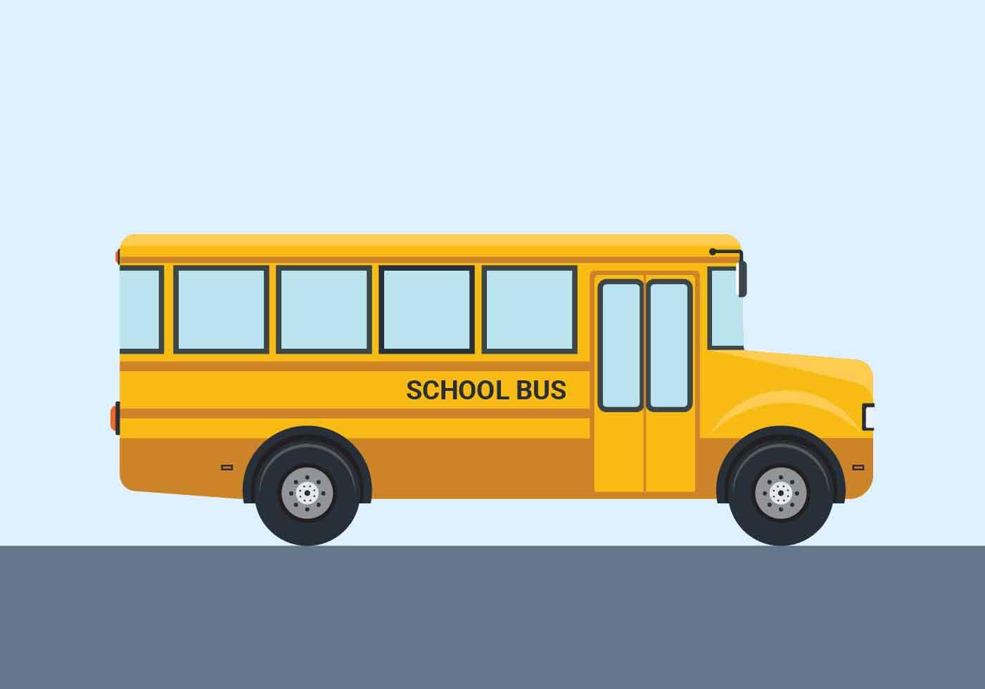 School Bus Vector Illustration - Download Free Vectors ...