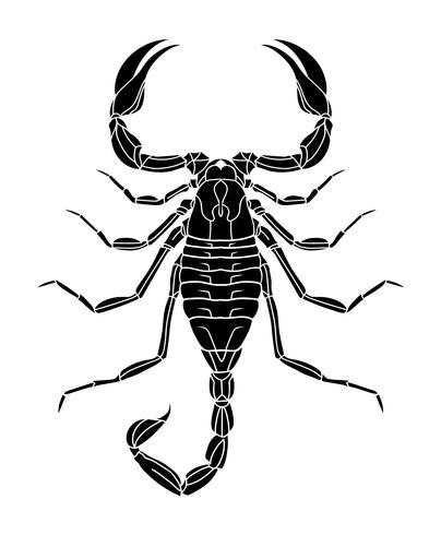 Tatouage Scorpion noir