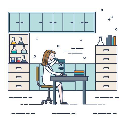Ilustración de Vector científico femenino