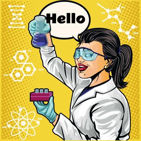 female scientist vector