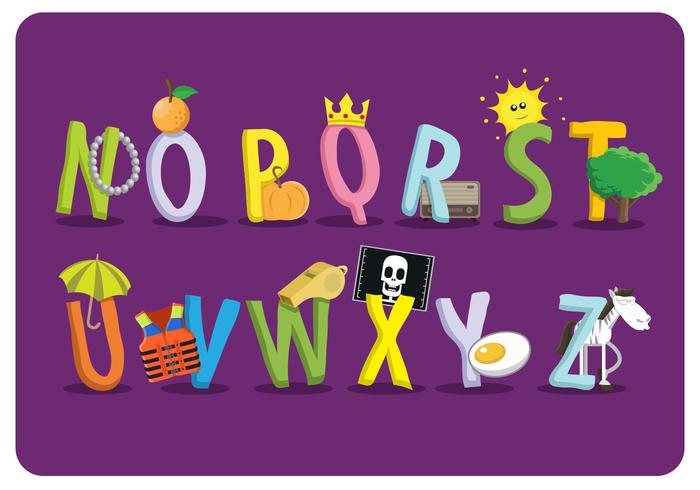 platt stil skola temat alfabet