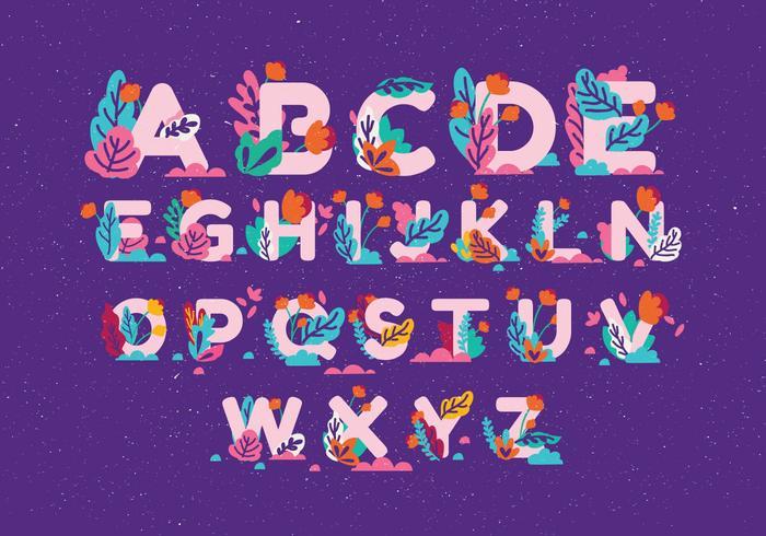 Vector de alfabeto de otoño