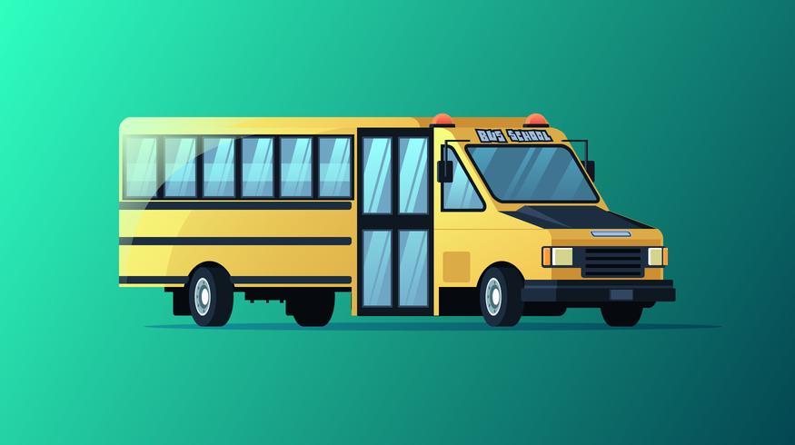 Vecteur de bus scolaire 3D