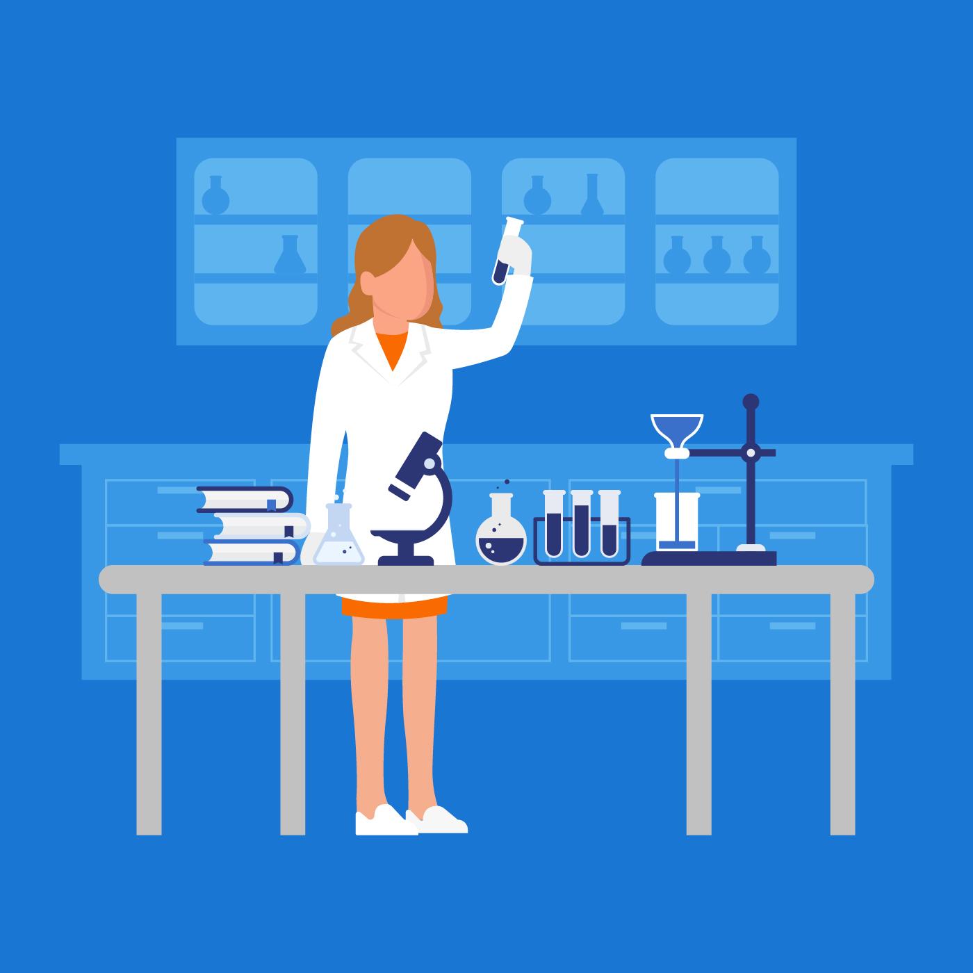 female scientist vector illustration download free vectors clipart graphics vector art https www vecteezy com vector art 229496 female scientist vector illustration