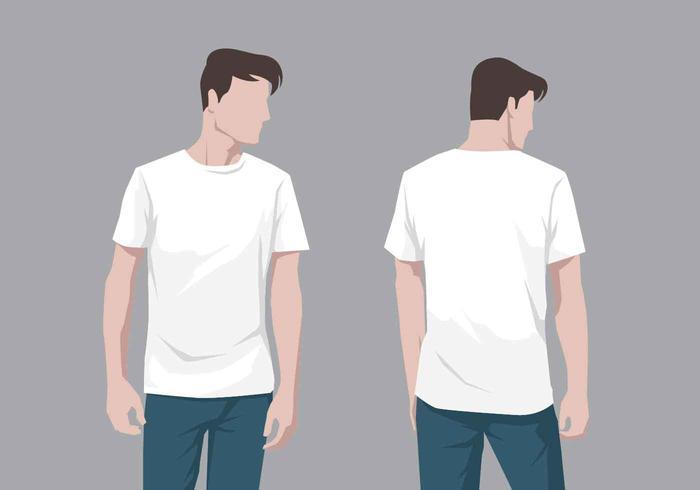 T Shirt Model Vector
