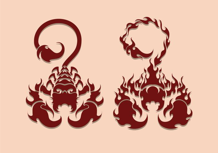 Scorpion tatouage Illustration vecteur