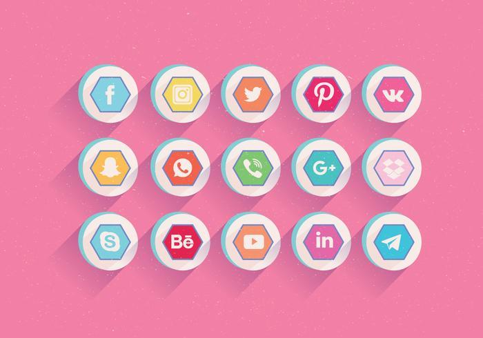 Iconos de redes sociales Vector Set