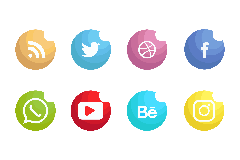Social Media Icons Set Vector 229529 - Download Free ...