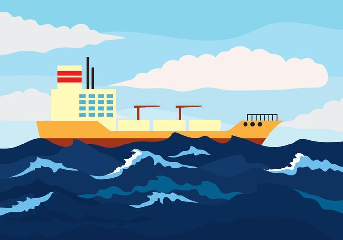 Illustration vectorielle de haute mer