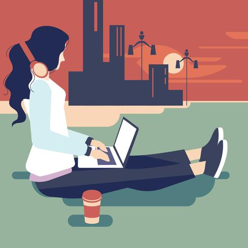 Young Indian Woman as Female Developer Profession