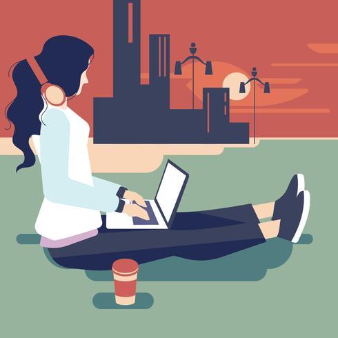 Jovem, indianas, mulher, como, femininas, desenhista, profissão