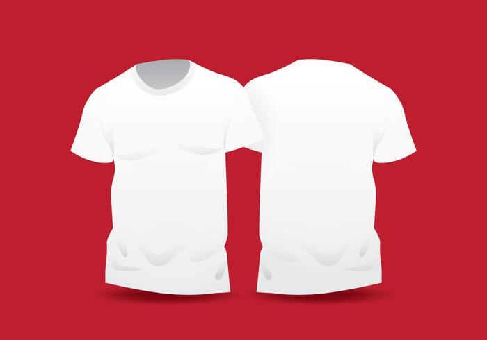 Realistic White Blank T Shirt Template