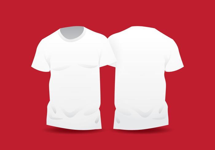Plantilla de camiseta en blanco blanco realista vector